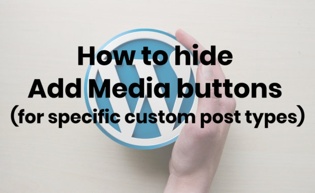 hide add media buttons