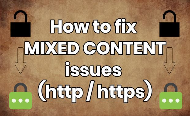 how to fix mixed content issues